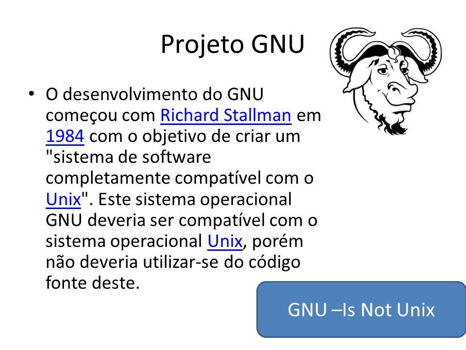 Projeto GNU GNU –Is Not Unix