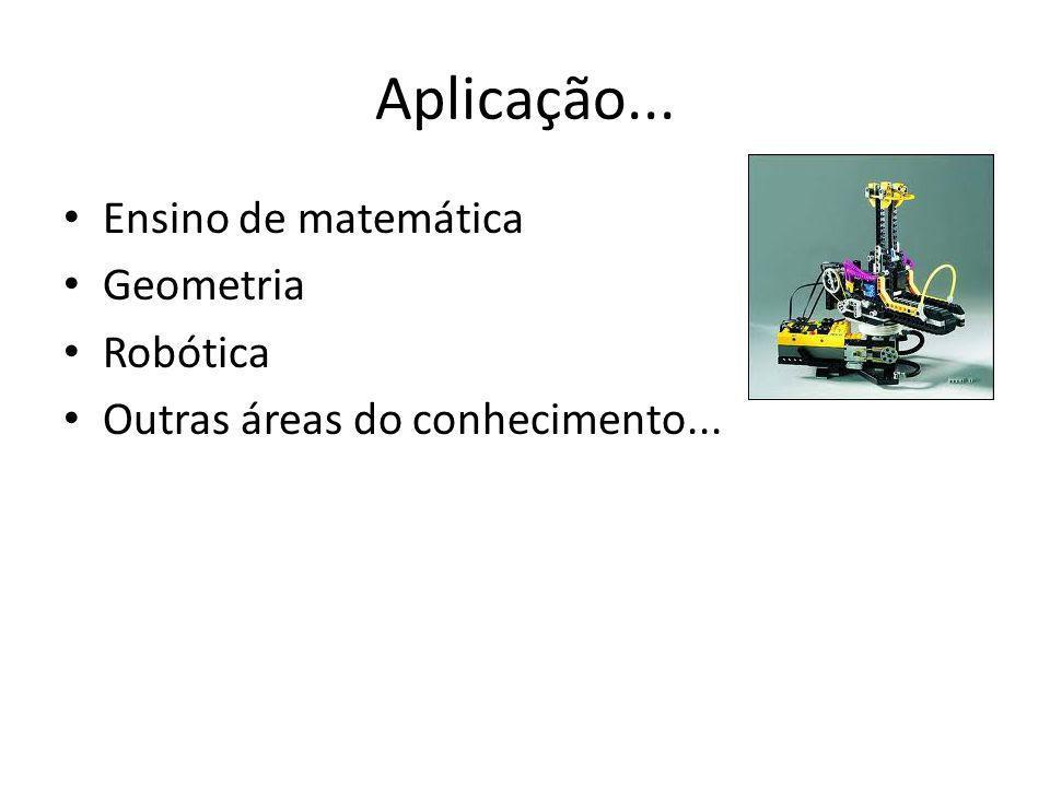 Aplicação... Ensino de matemática Geometria Robótica