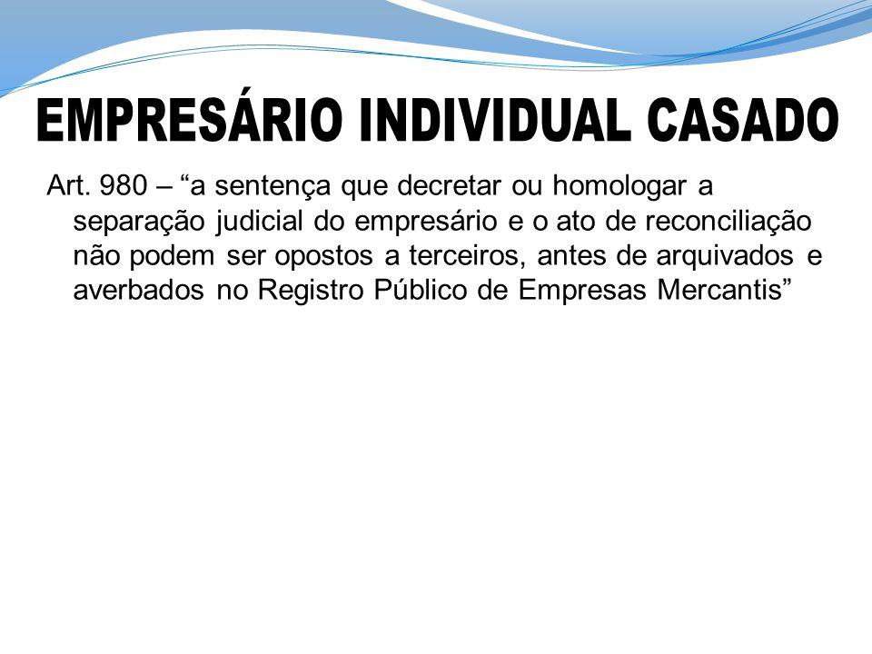 EMPRESÁRIO INDIVIDUAL CASADO