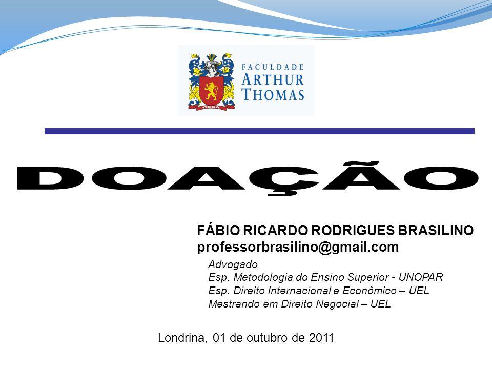 DOAÇÃO FÁBIO RICARDO RODRIGUES BRASILINO professorbrasilino@gmail.com