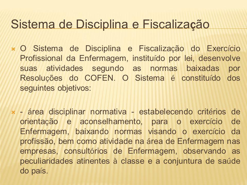 Sistema de Disciplina e Fiscalização