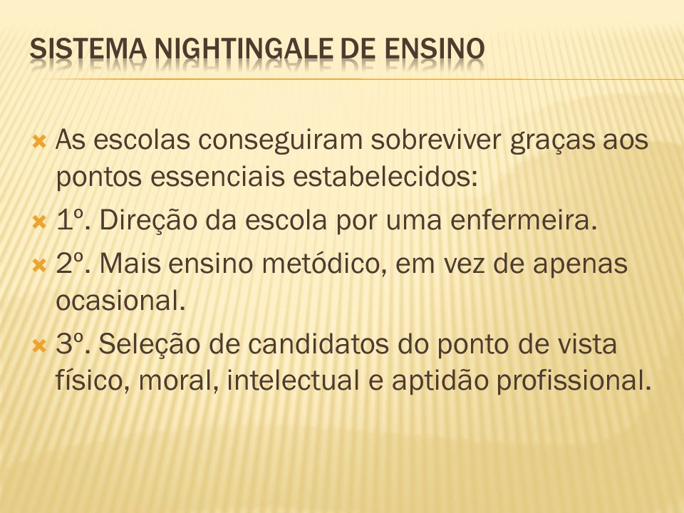 Sistema Nightingale de Ensino