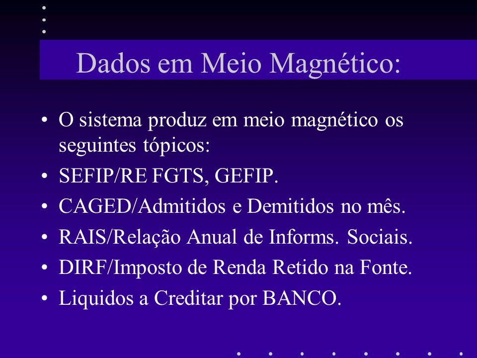 Dados em Meio Magnético: