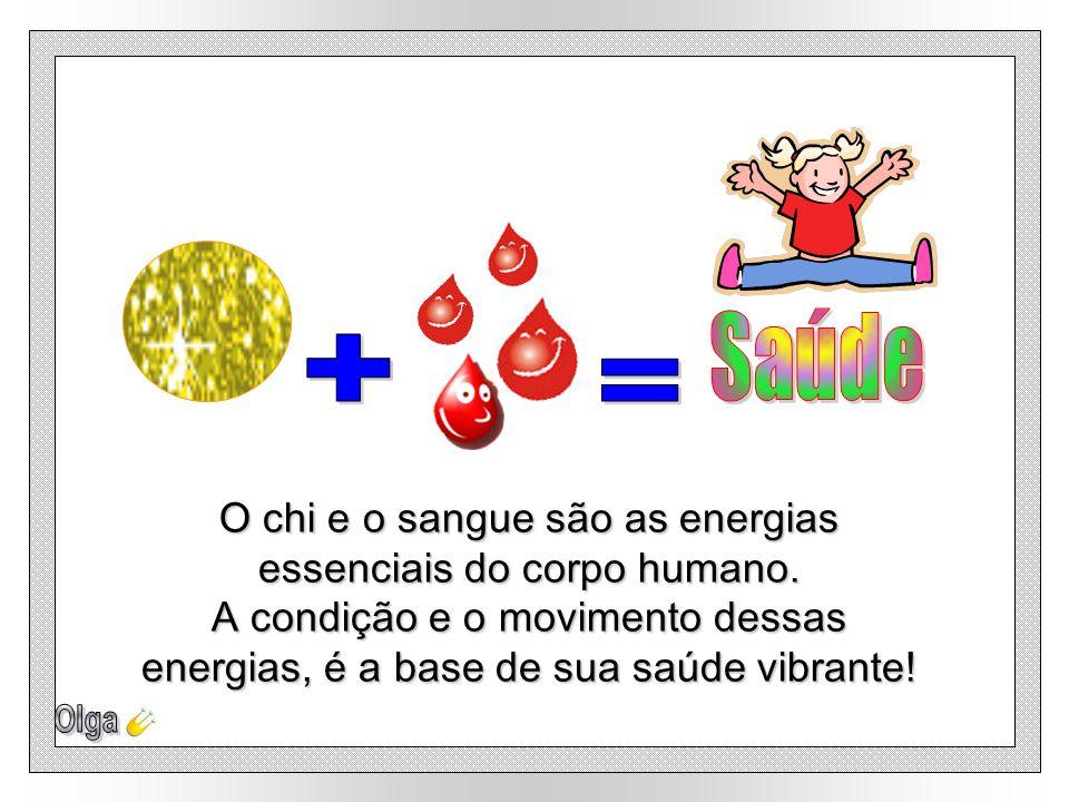 + = O chi e o sangue são as energias essenciais do corpo humano.