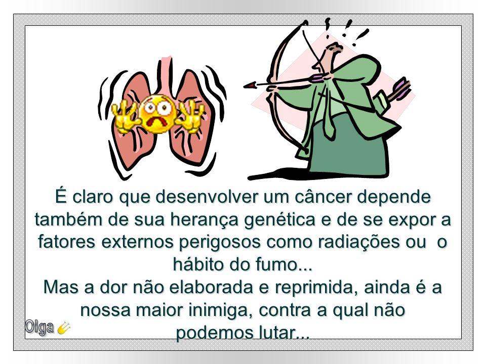 É claro que desenvolver um câncer depende também de sua herança genética e de se expor a fatores externos perigosos como radiações ou o hábito do fumo...