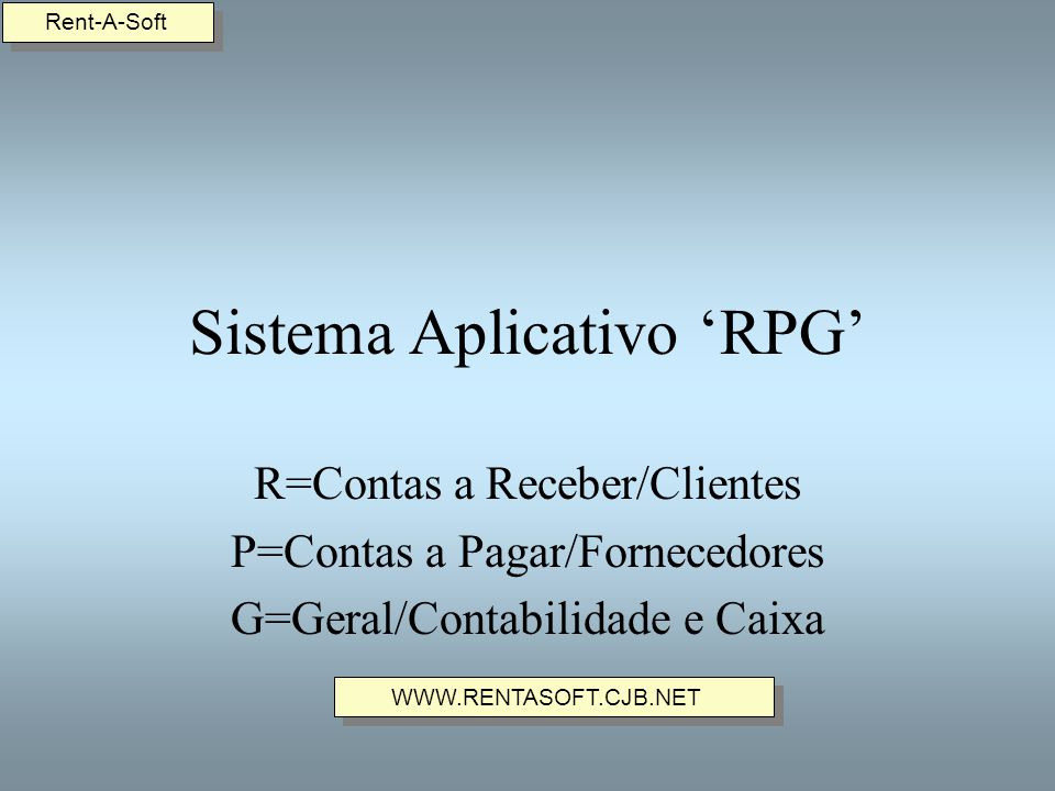 Sistema Aplicativo 'RPG'