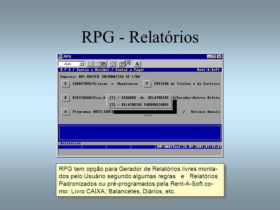 RPG - Relatórios