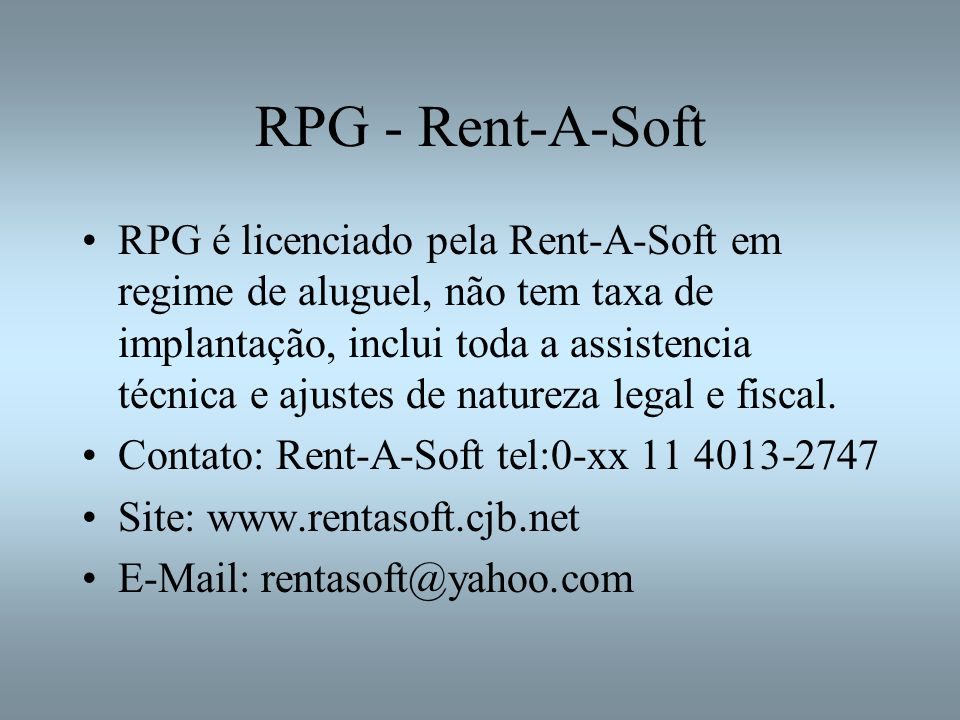 RPG - Rent-A-Soft