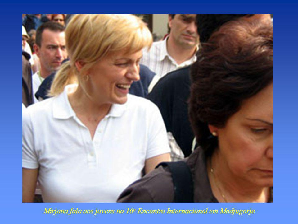 Mirjana fala aos jovens no 16o Encontro Internacional em Medjugorje