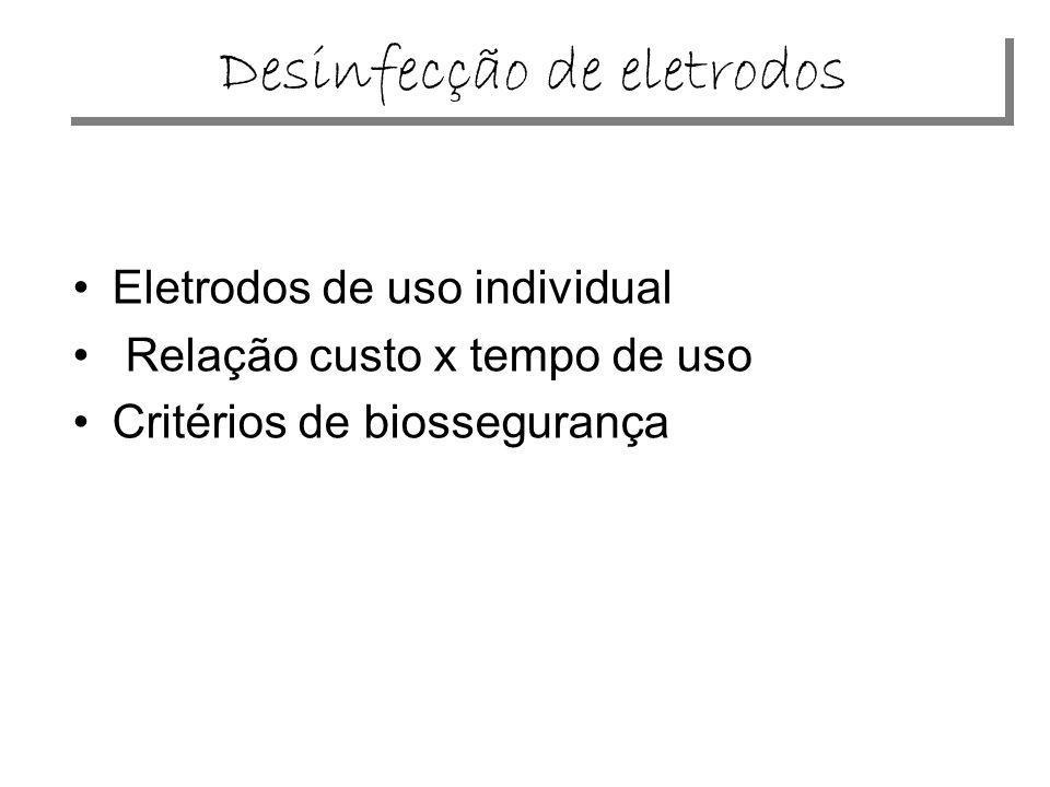 Desinfecção de eletrodos