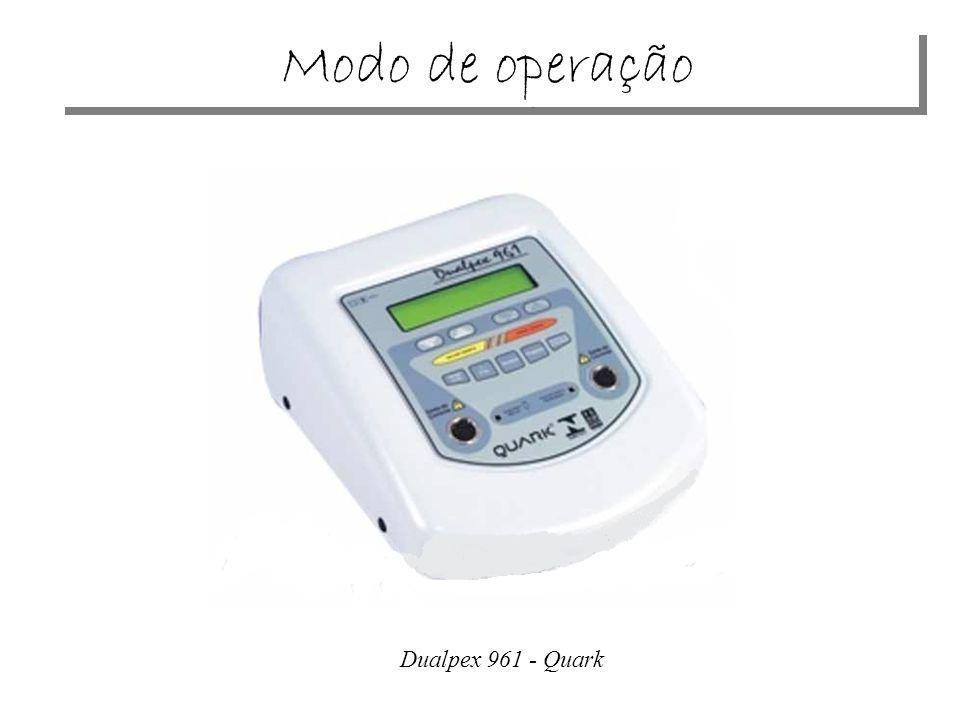 Modo de operação Dualpex 961 - Quark
