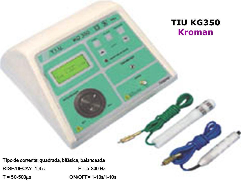 TIU KG350 Kroman Tipo de corrente: quadrada, bifásica, balanceada