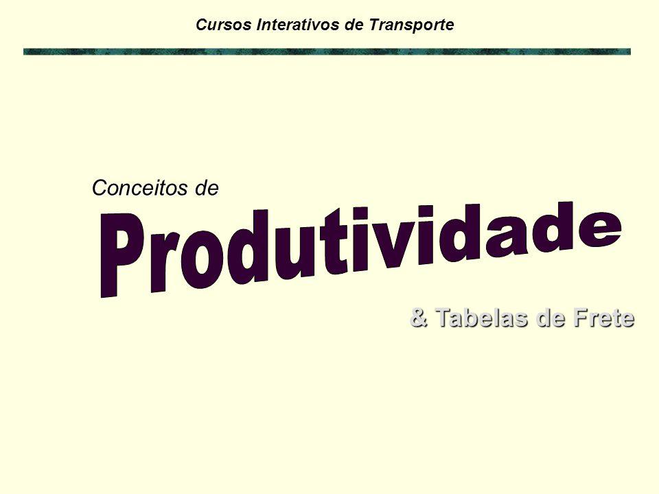 Conceitos de Produtividade & Tabelas de Frete