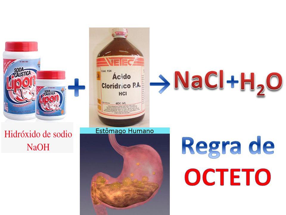 + NaCl + H2O → Regra de OCTETO