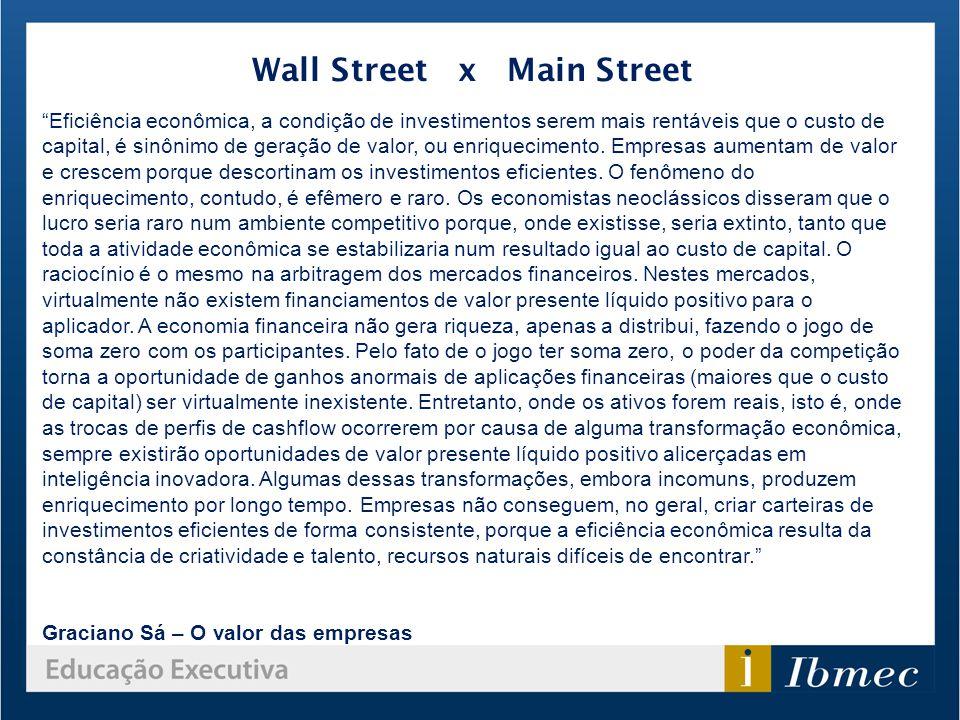 Wall Street x Main Street