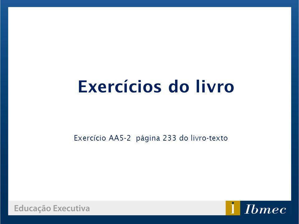 Exercício AA5-2 página 233 do livro-texto