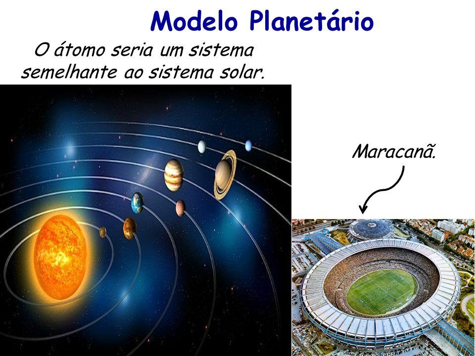 O átomo seria um sistema semelhante ao sistema solar.