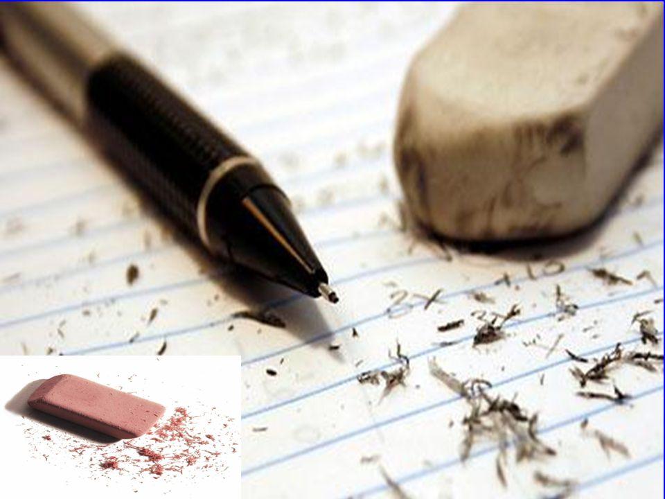 Porquê a borracha apaga o lápis