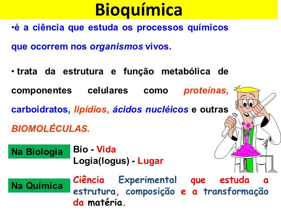 Bioquímica é a ciência que estuda os processos químicos que ocorrem nos organismos vivos.