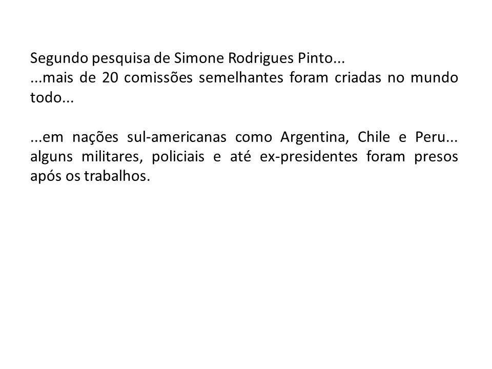 Segundo pesquisa de Simone Rodrigues Pinto...