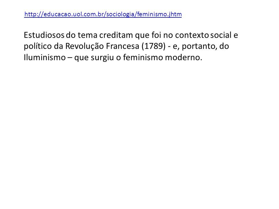 http://educacao.uol.com.br/sociologia/feminismo.jhtm