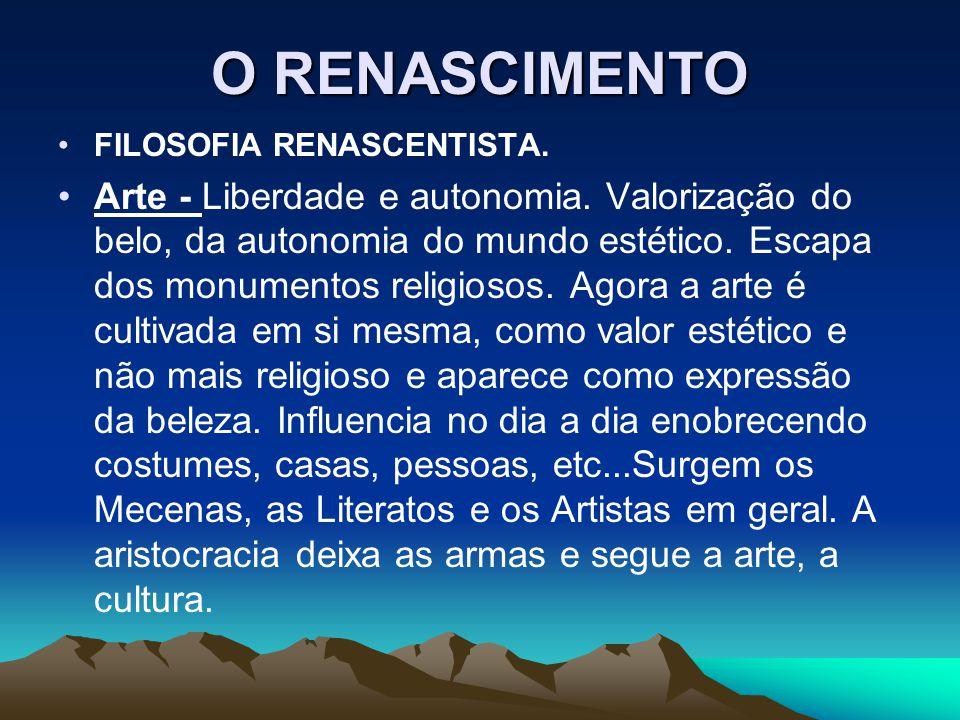 O RENASCIMENTO FILOSOFIA RENASCENTISTA.