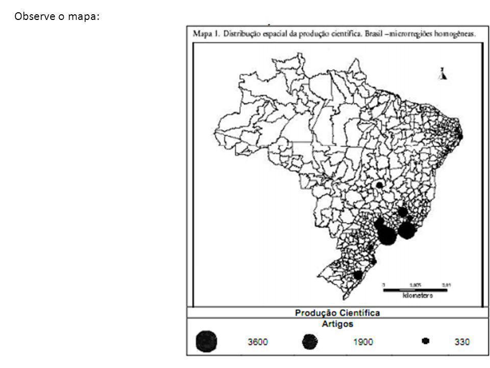 Observe o mapa: