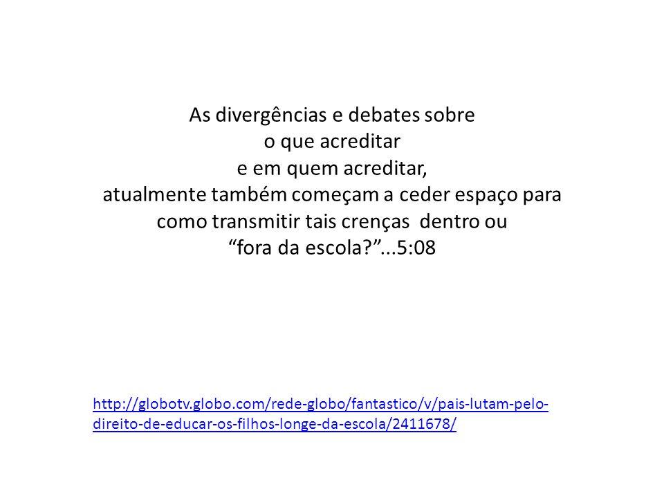 As divergências e debates sobre