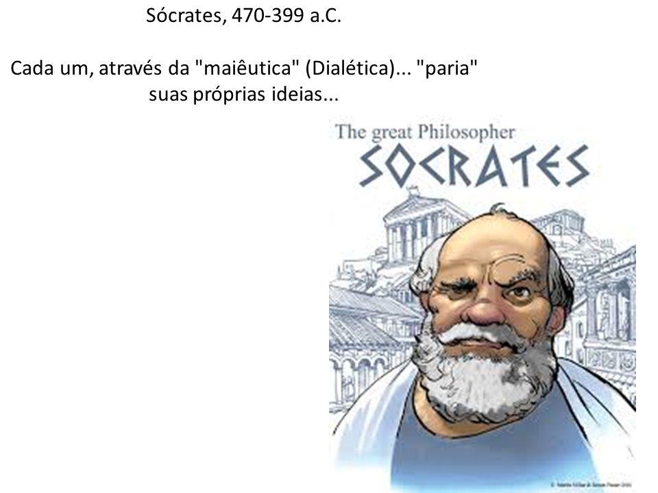 Sócrates, 470-399 a.C. Cada um, através da maiêutica (Dialética)...