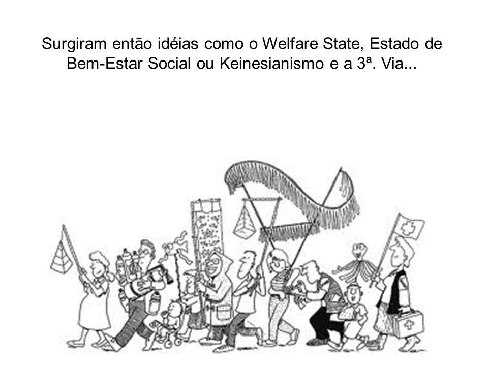 Surgiram então idéias como o Welfare State, Estado de Bem-Estar Social ou Keinesianismo e a 3ª.
