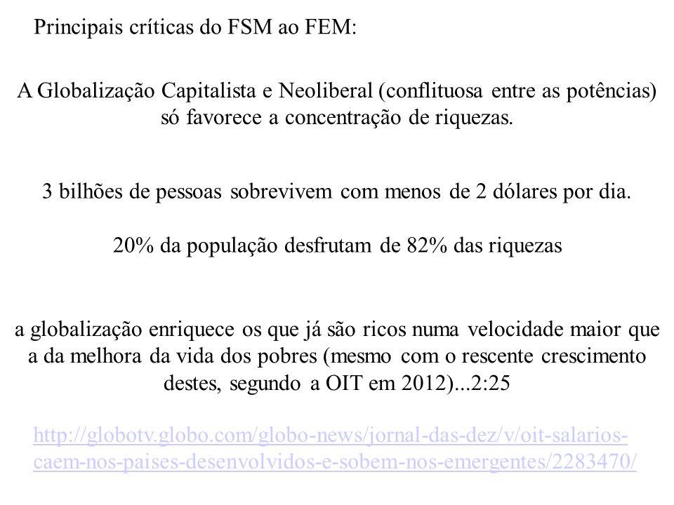 Principais críticas do FSM ao FEM: