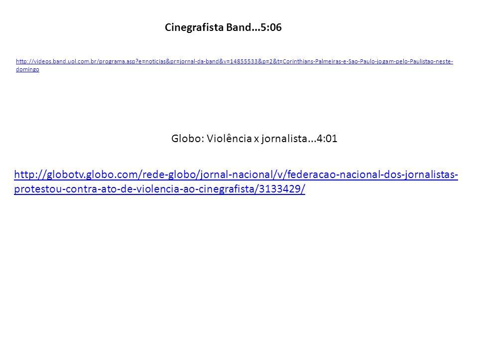 Globo: Violência x jornalista...4:01