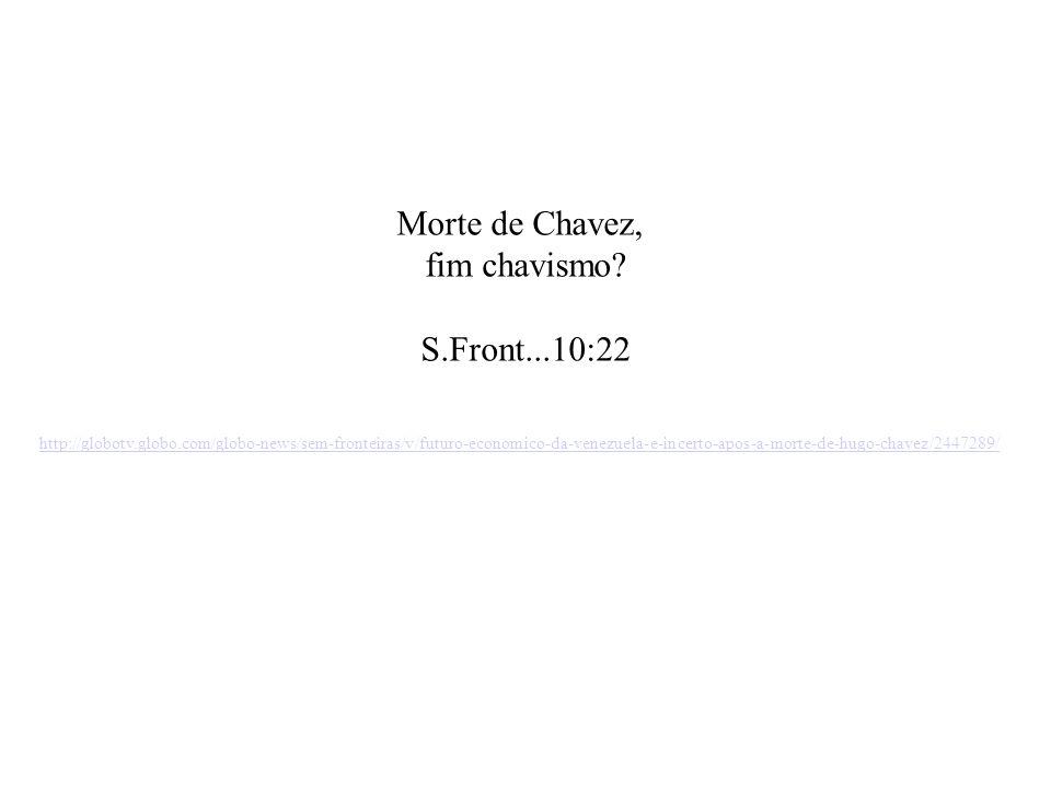 Morte de Chavez, fim chavismo S.Front...10:22