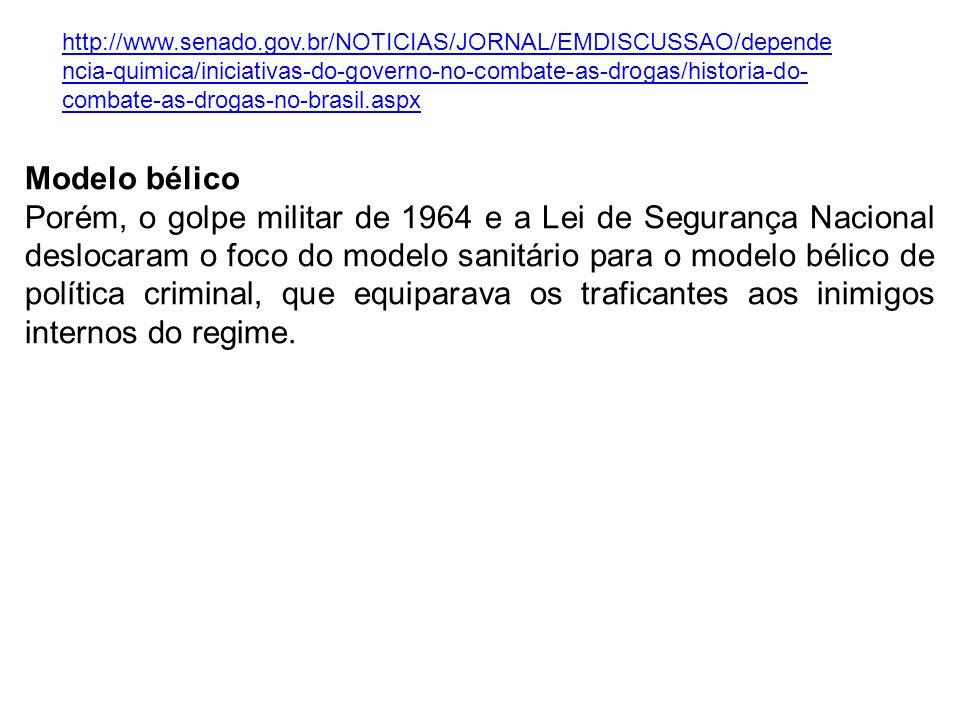 http://www.senado.gov.br/NOTICIAS/JORNAL/EMDISCUSSAO/dependencia-quimica/iniciativas-do-governo-no-combate-as-drogas/historia-do-combate-as-drogas-no-brasil.aspx