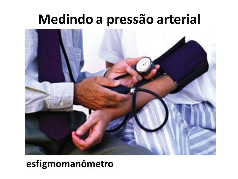 Medindo a pressão arterial