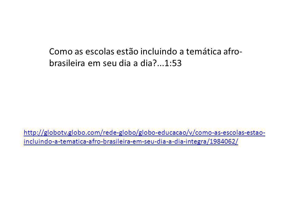 Como as escolas estão incluindo a temática afro-brasileira em seu dia a dia ...1:53