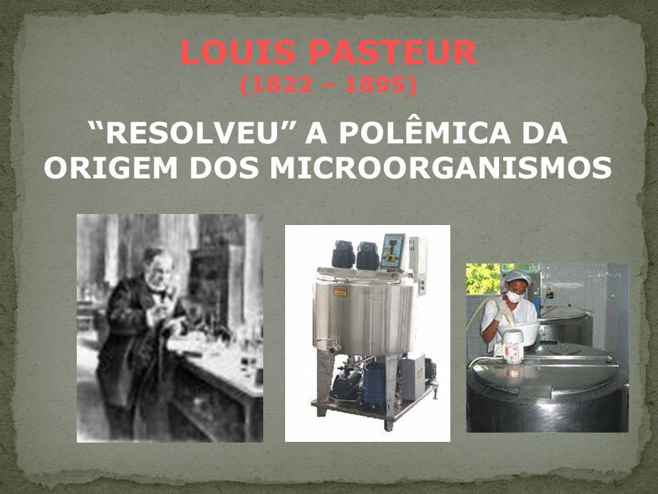 RESOLVEU A POLÊMICA DA ORIGEM DOS MICROORGANISMOS