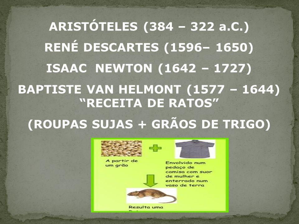 BAPTISTE VAN HELMONT (1577 – 1644) RECEITA DE RATOS