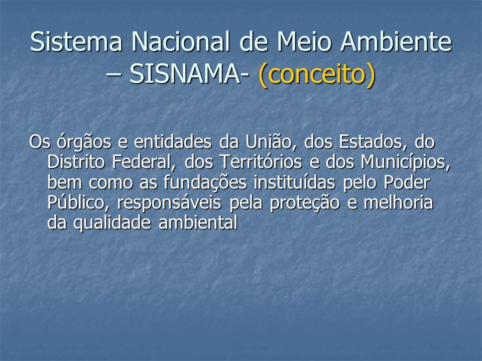 Sistema Nacional de Meio Ambiente – SISNAMA- (conceito)