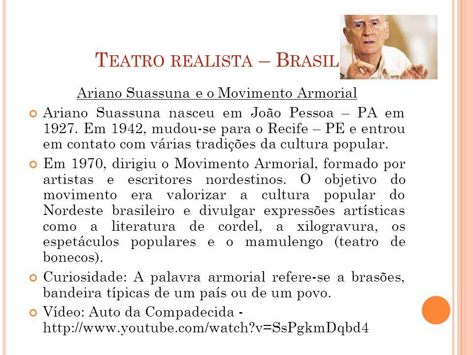 Teatro realista – Brasil