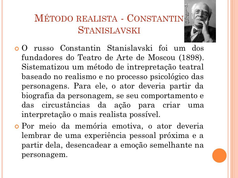 Método realista - Constantin Stanislavski