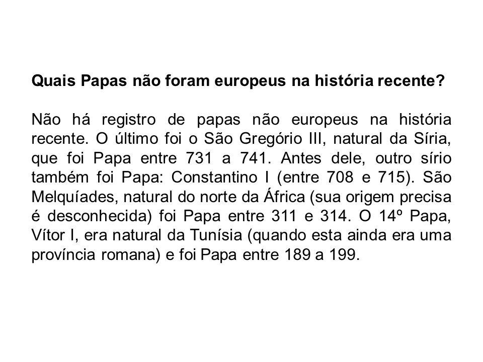 Quais Papas não foram europeus na história recente