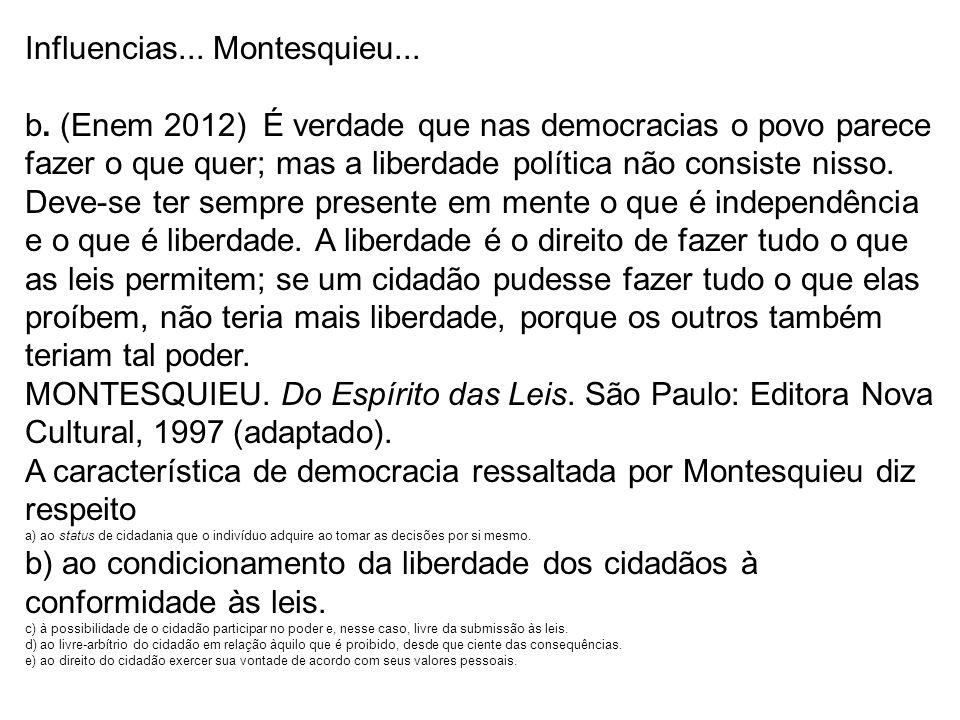 Influencias... Montesquieu...