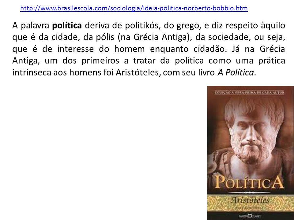 http://www.brasilescola.com/sociologia/ideia-politica-norberto-bobbio.htm