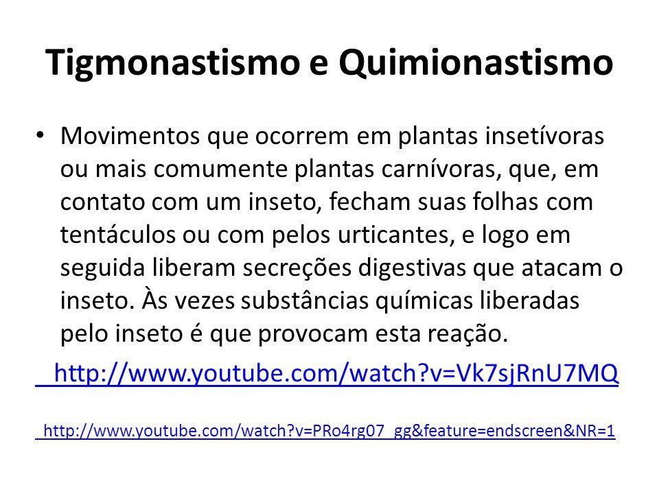 Tigmonastismo e Quimionastismo