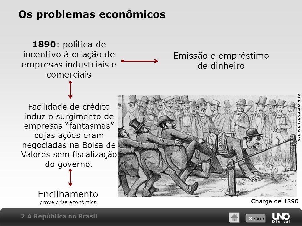 Os problemas econômicos