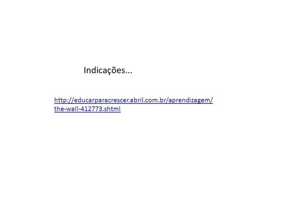 Indicações... http://educarparacrescer.abril.com.br/aprendizagem/the-wall-412773.shtml