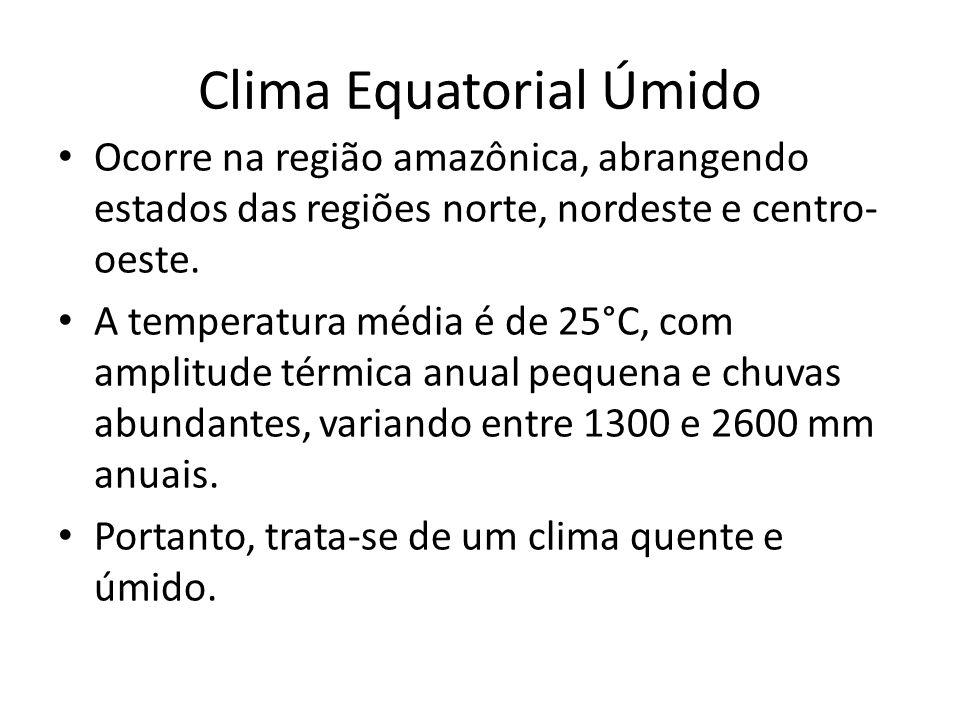 Clima Equatorial Úmido