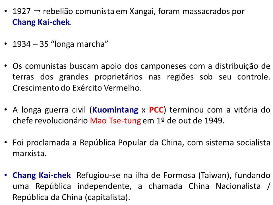 1927  rebelião comunista em Xangai, foram massacrados por