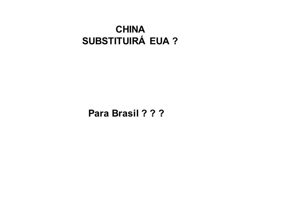 CHINA SUBSTITUIRÁ EUA Para Brasil